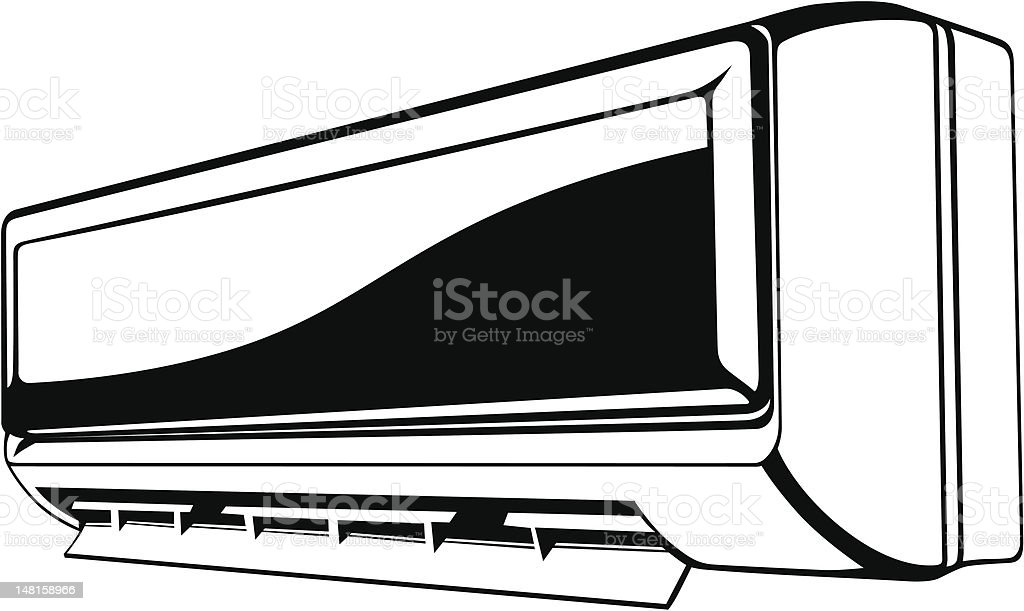 Air conditioner royalty-free stock vector art