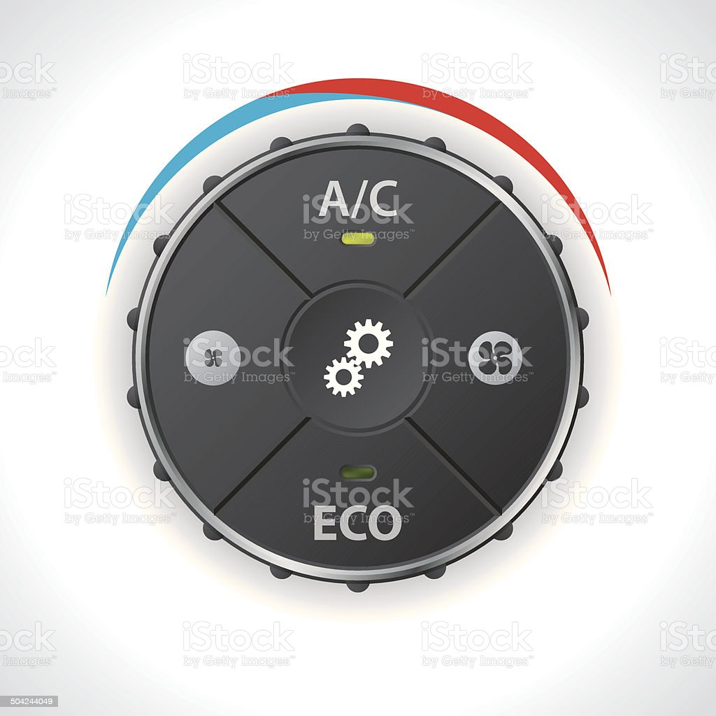Air conditioning gauge without led display vector art illustration