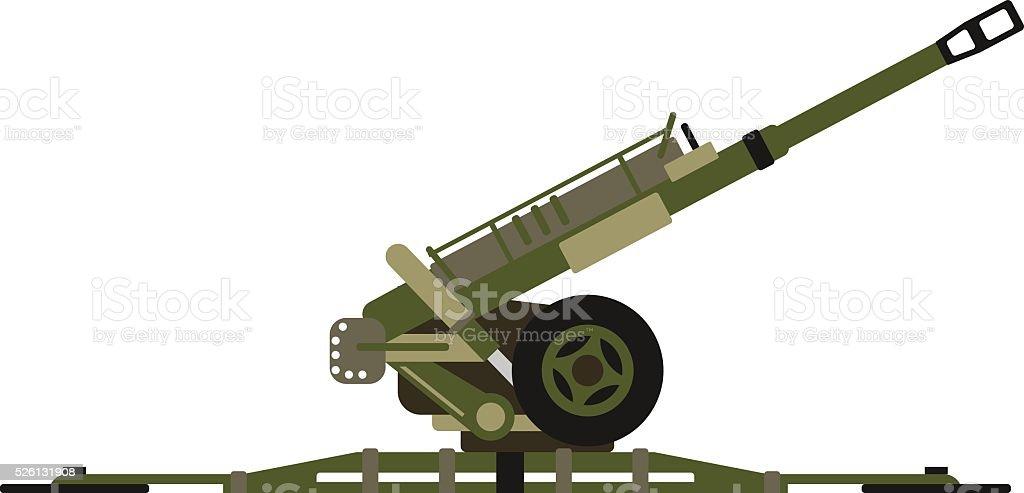 Air defense gun vector illustration vector art illustration