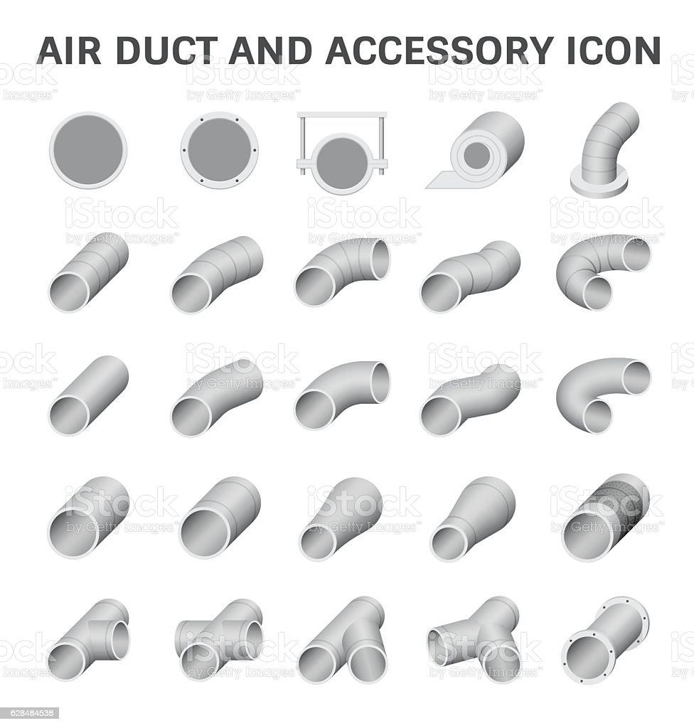 Air duct vector vector art illustration