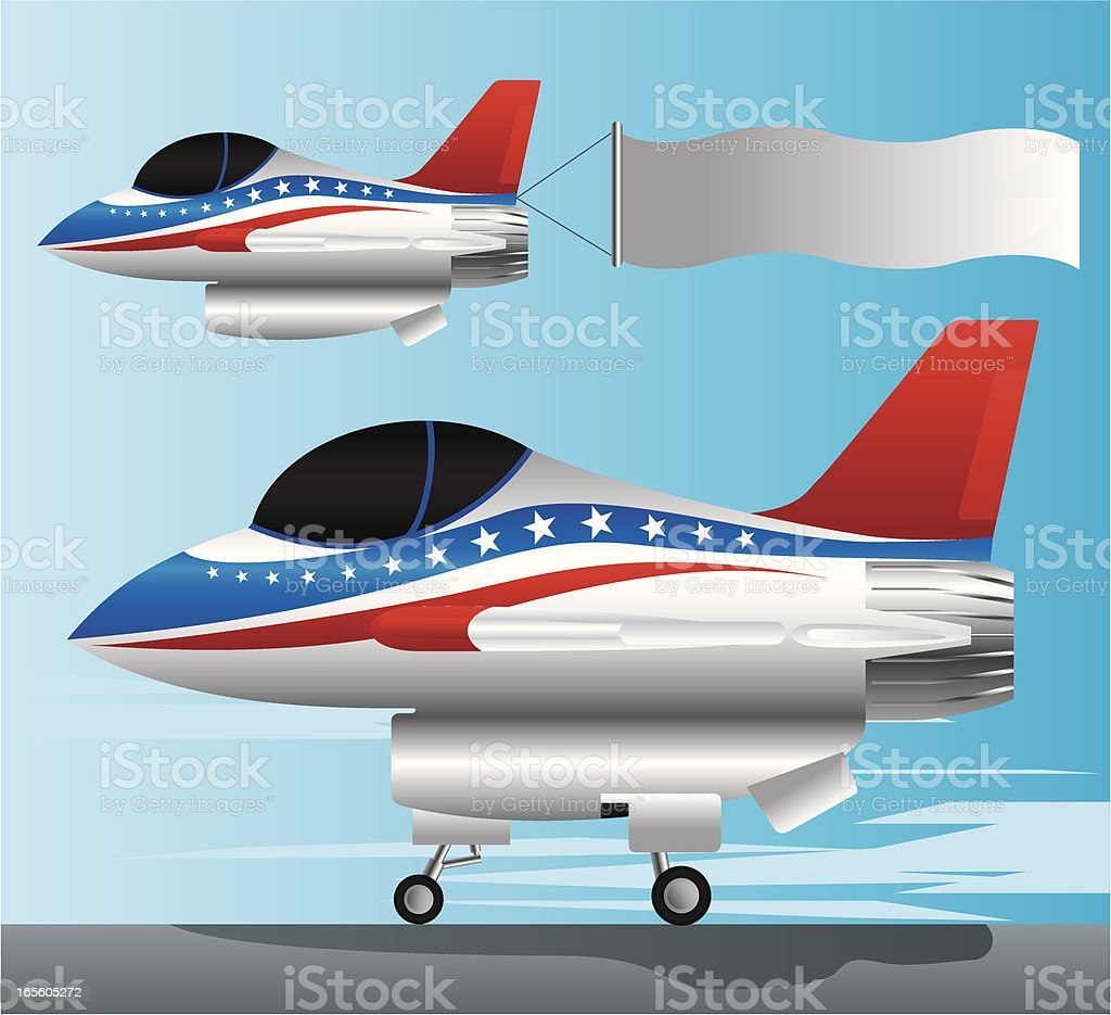 Air Force and Banner royalty-free stock vector art