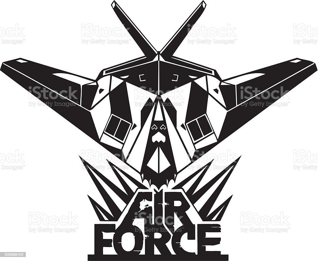 US Air Force - Military Design. vector art illustration