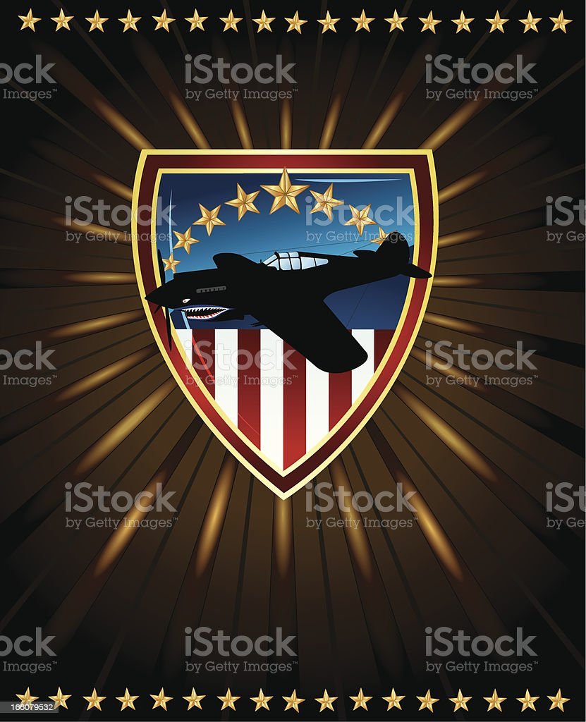 US Air Force War Hero Background royalty-free stock vector art