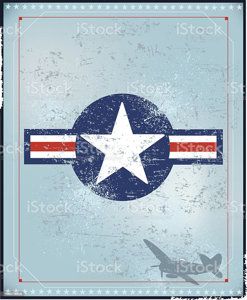 Air Force - World War Two Background vector art illustration
