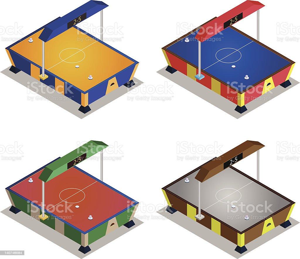 Air Hockey arcade machine royalty-free stock vector art