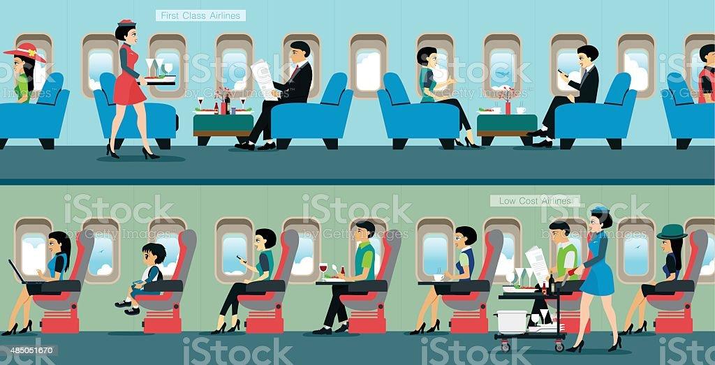air hostess vector art illustration