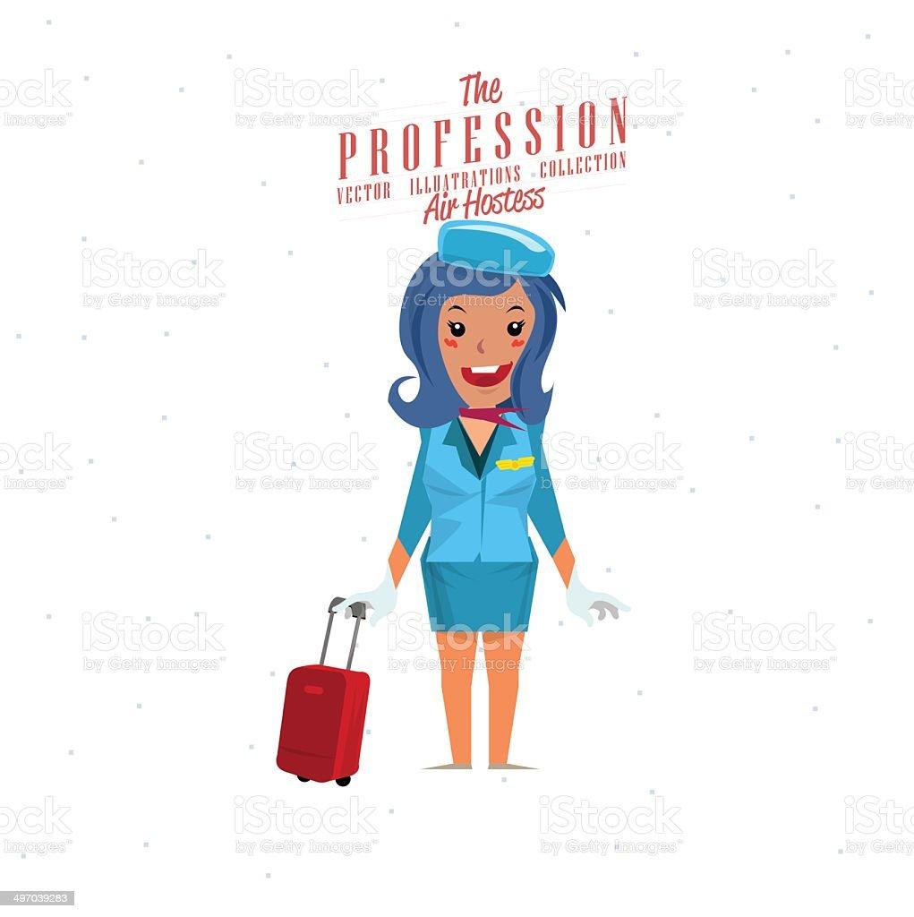 Air hostess - vector illustration vector art illustration