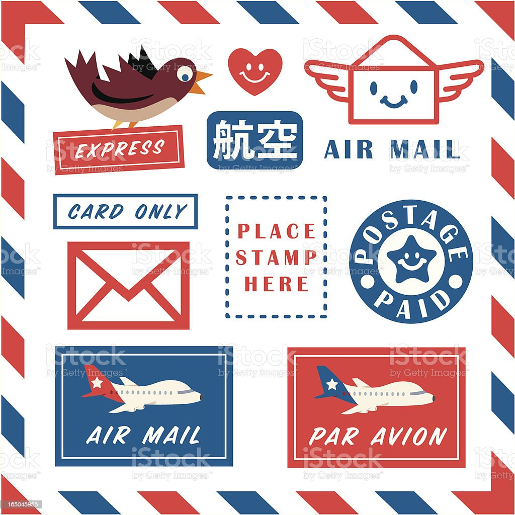 Air Mail Art royalty-free stock vector art
