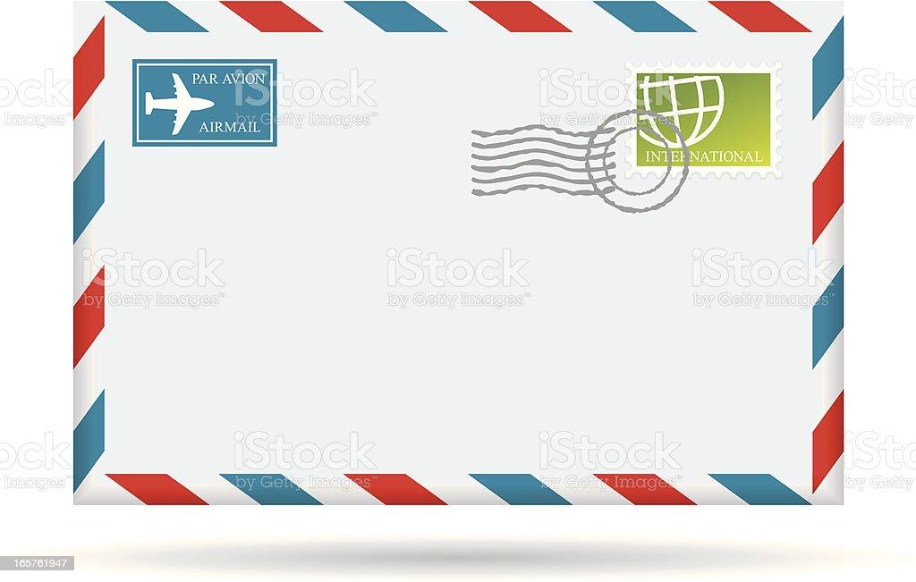 Air Mail Envelope royalty-free stock vector art