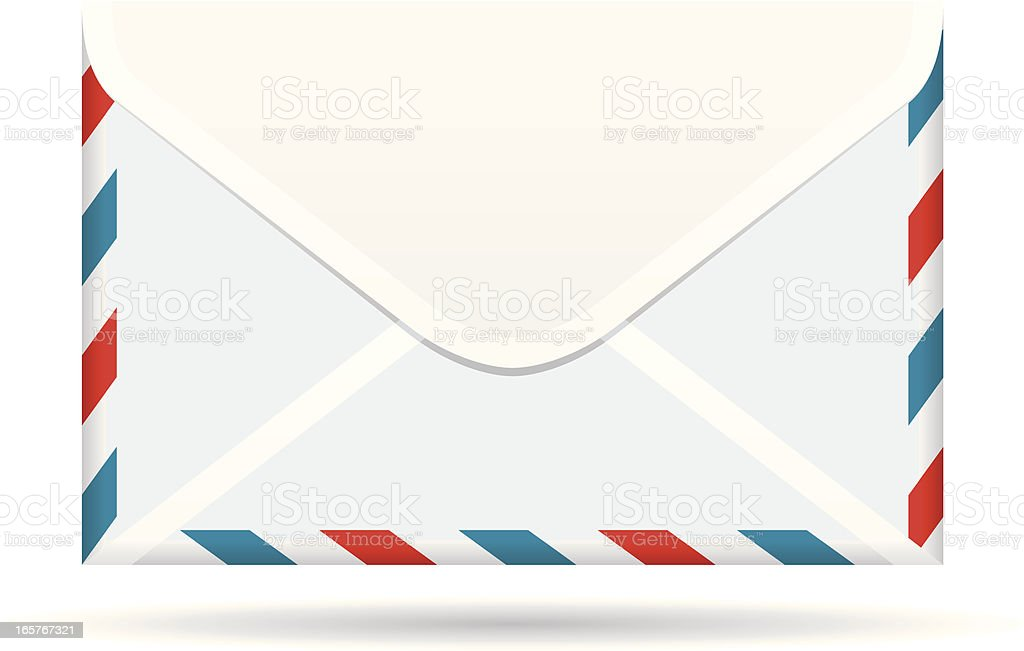 Air Mail Envelope royalty-free stock vector art