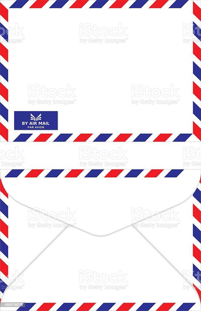 air mail envelope vector art illustration
