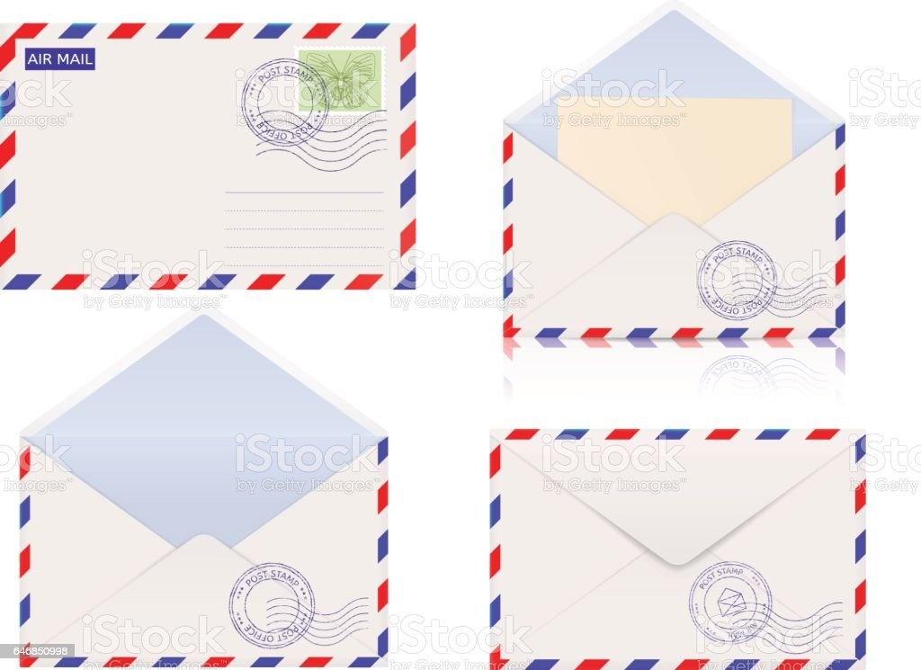 Air mail envelope vector art illustration