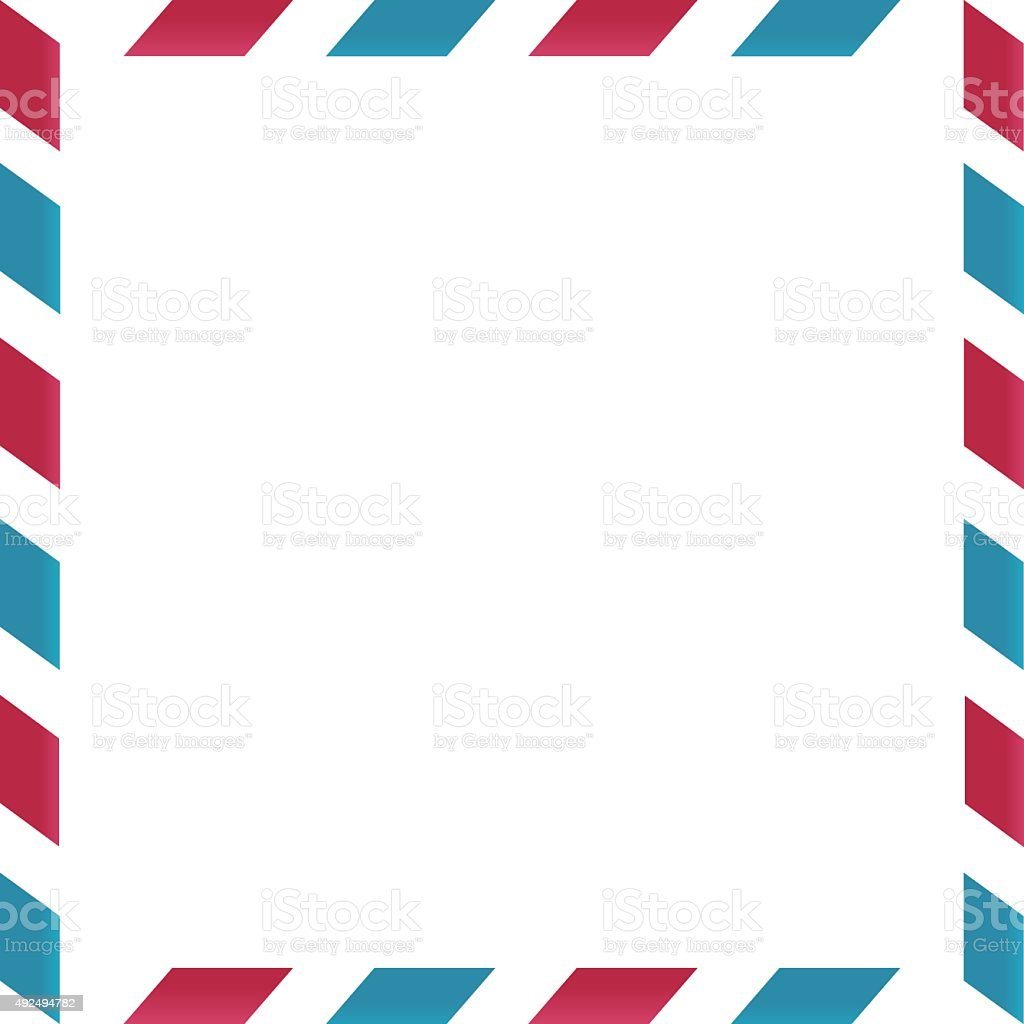 Air mail frame on white background vector art illustration