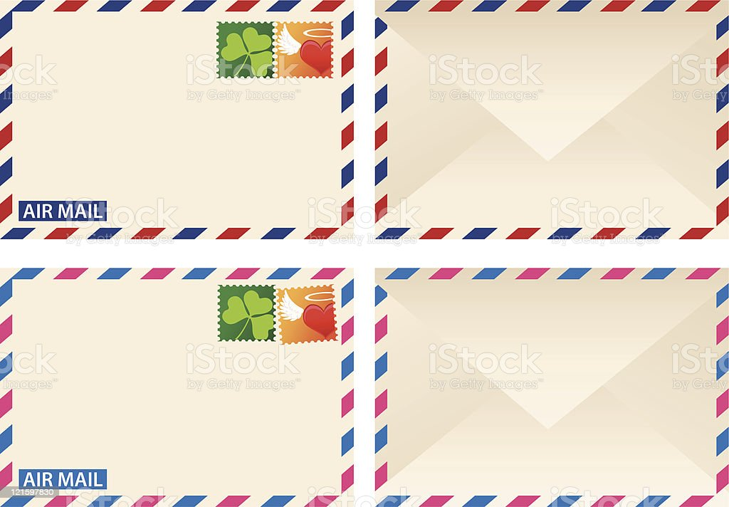 Air Mail royalty-free stock vector art