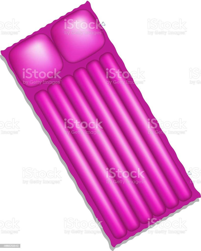 Air mattress in purple design vector art illustration