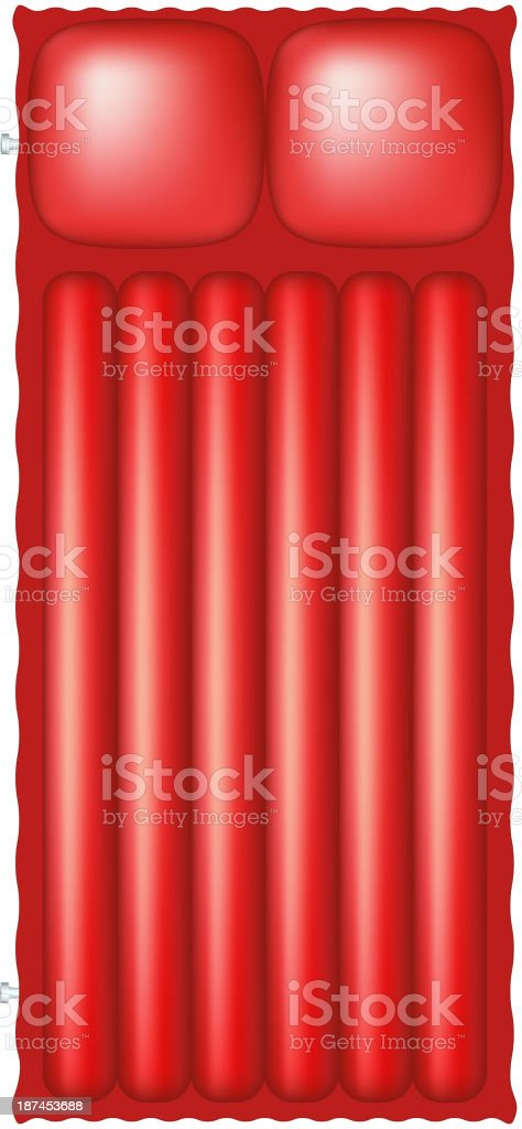 Air mattress in red design royalty-free stock vector art