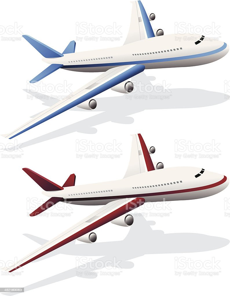 Air plain icon royalty-free stock vector art