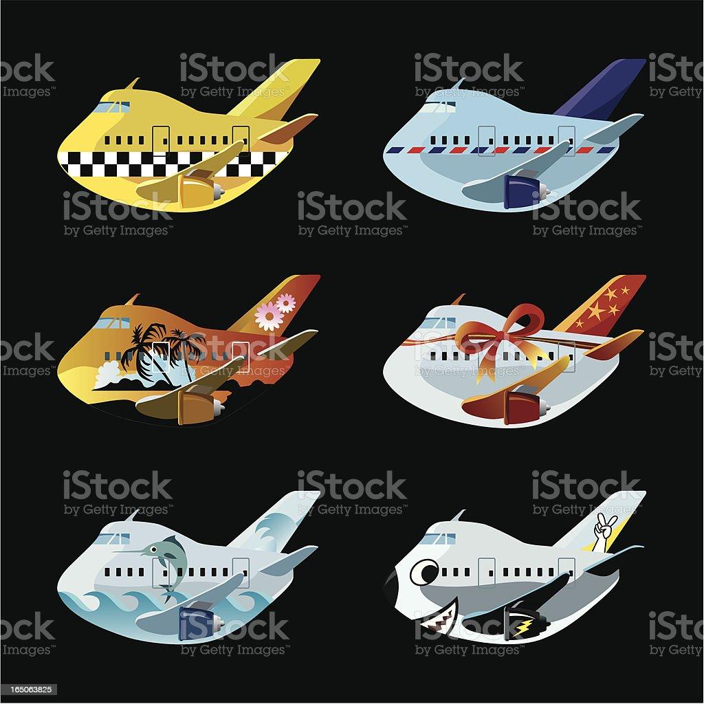 Air services icon set A royalty-free stock vector art