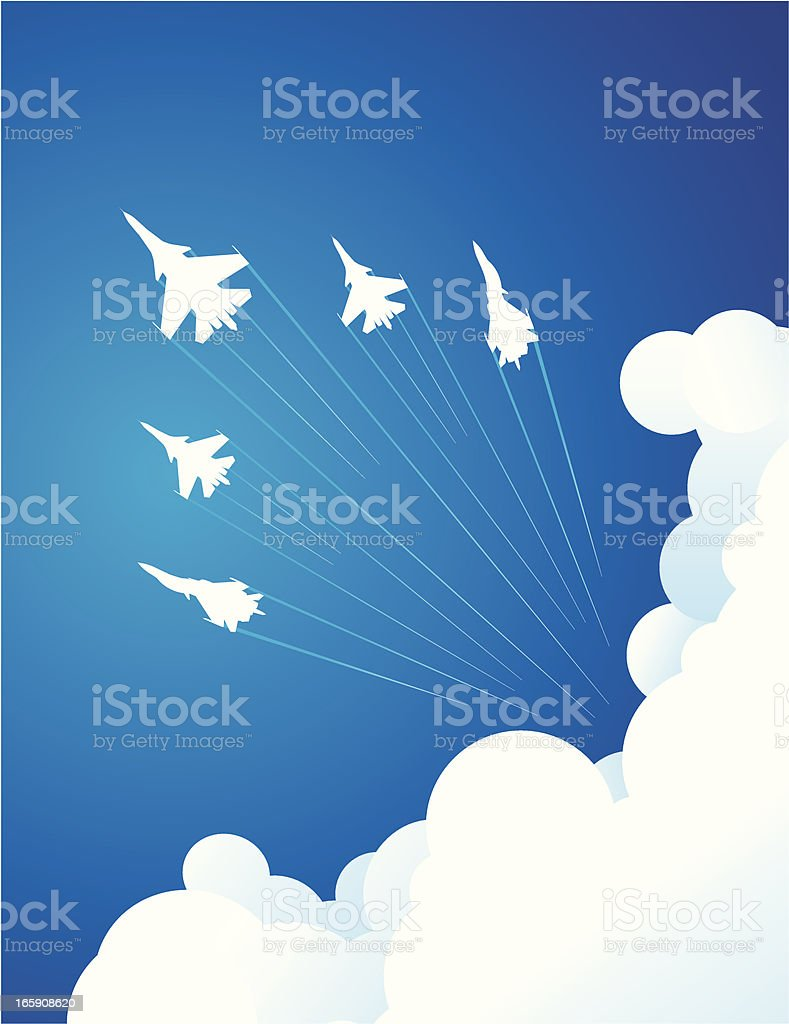 Air Show vector art illustration