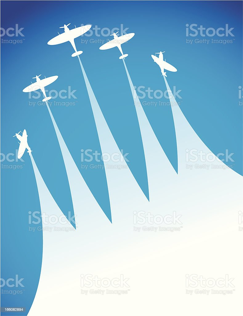 Air Show royalty-free stock vector art