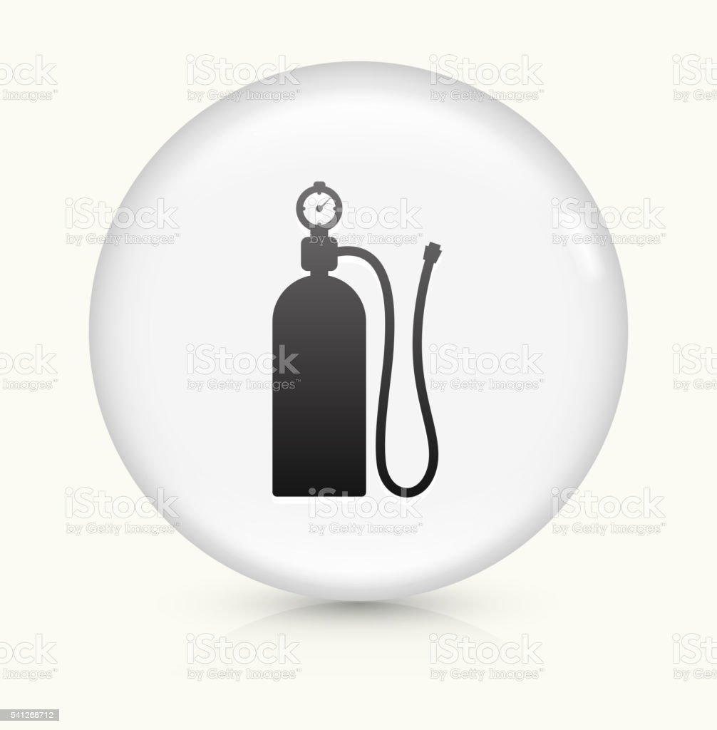 Air Tank icon on white round vector button vector art illustration