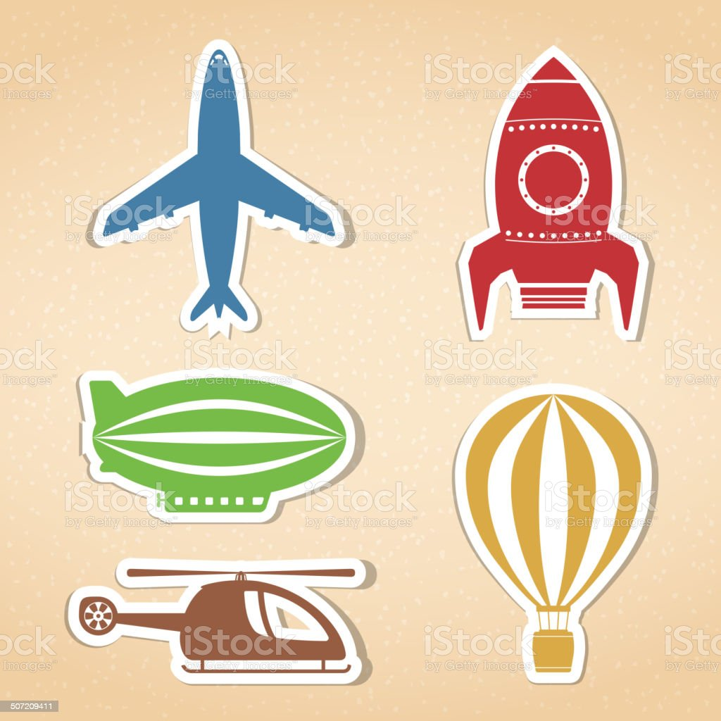 Air Transport Icons royalty-free stock vector art