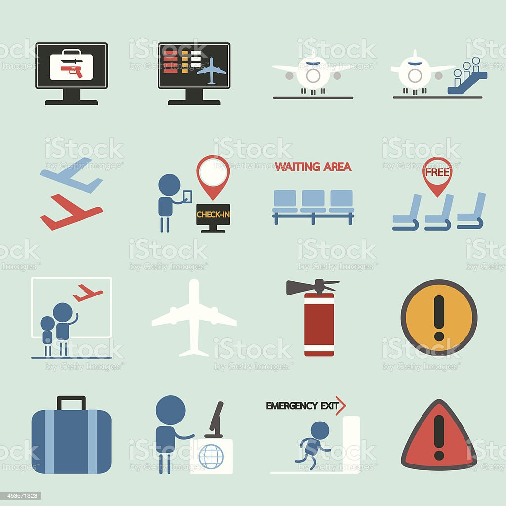 Air Travel icons set II royalty-free stock vector art