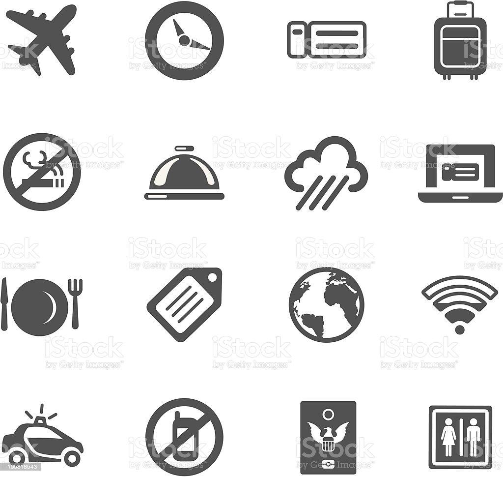 Air Travel Symbols royalty-free stock vector art