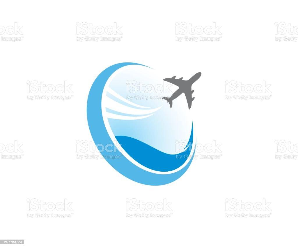 Air travel vector icon vector art illustration