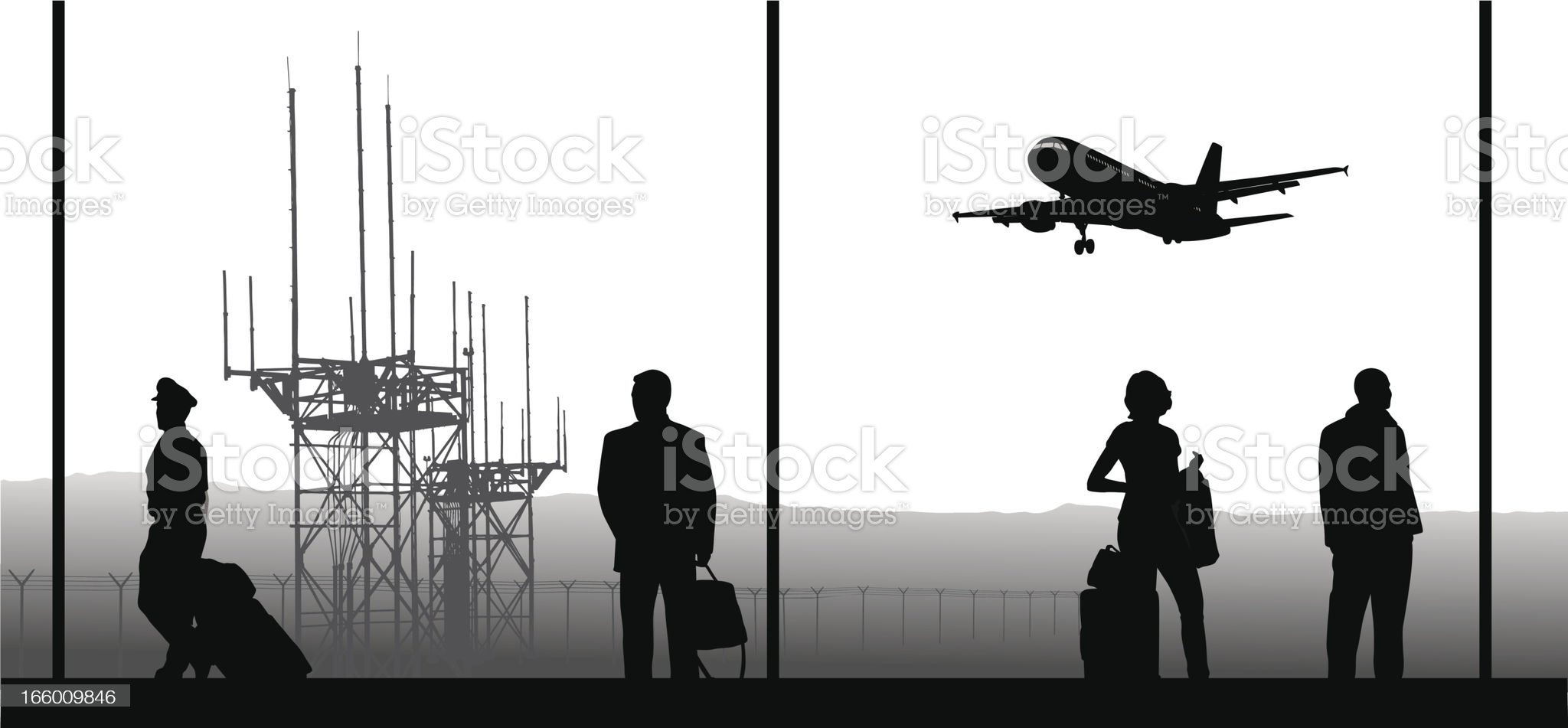 Air Travel royalty-free stock vector art