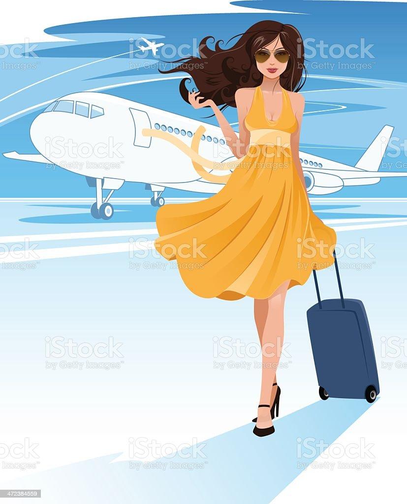 Air travel royalty-free stock vector art