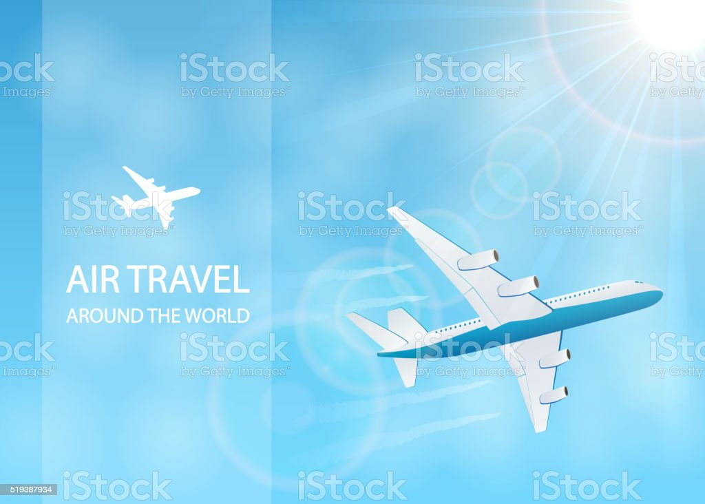 Air travel vector art illustration