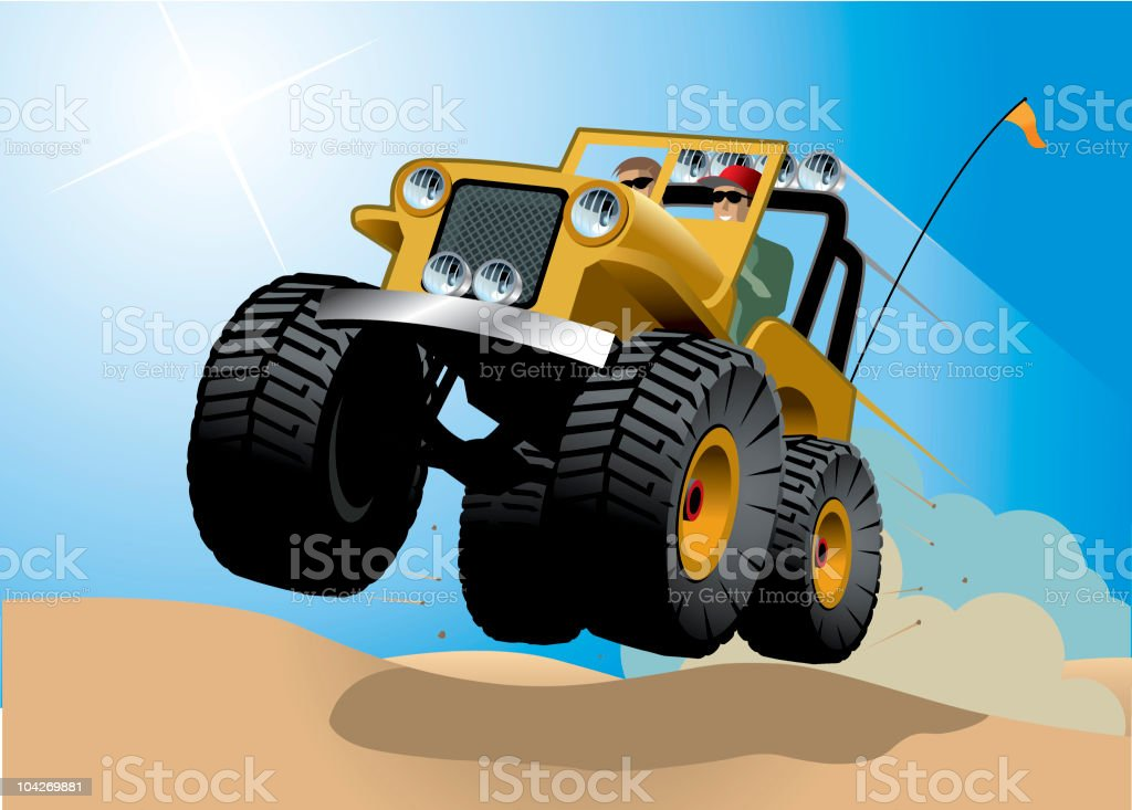 Airborne 4x4 royalty-free stock vector art