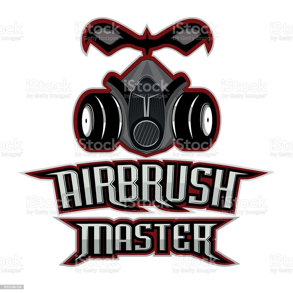 airbrush master logo vector art illustration