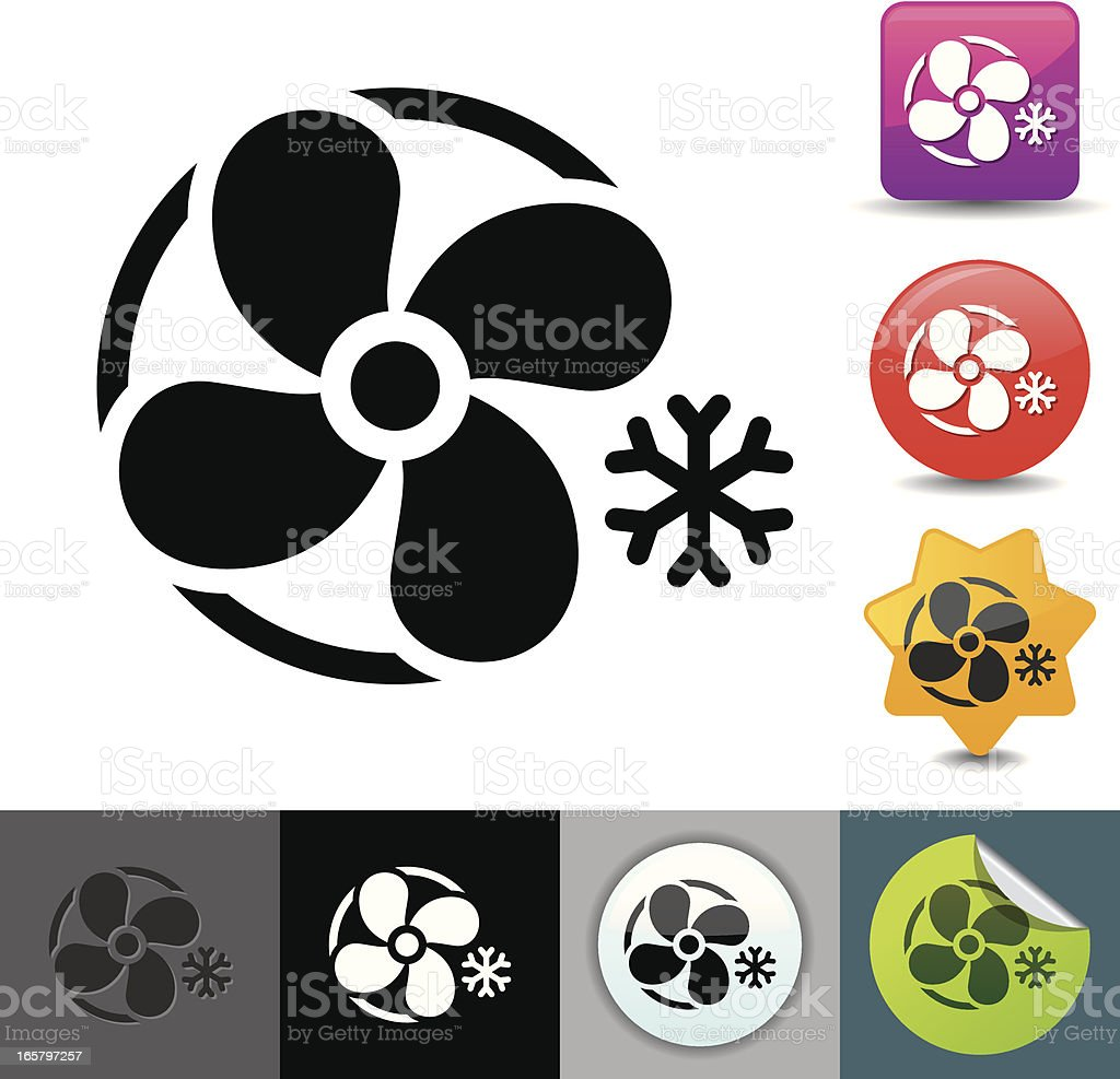 Airconditioning icon | solicosi series vector art illustration