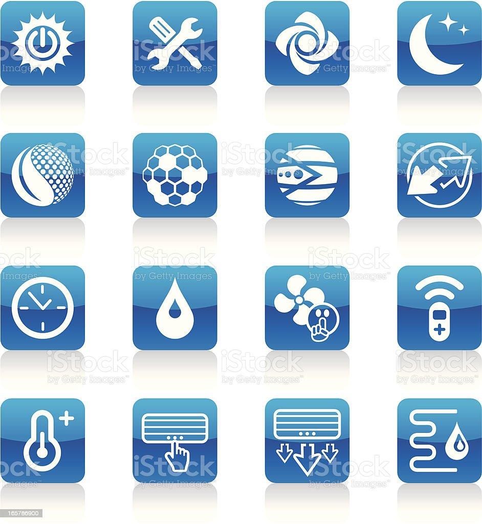 Air-conditioniring icons vector art illustration