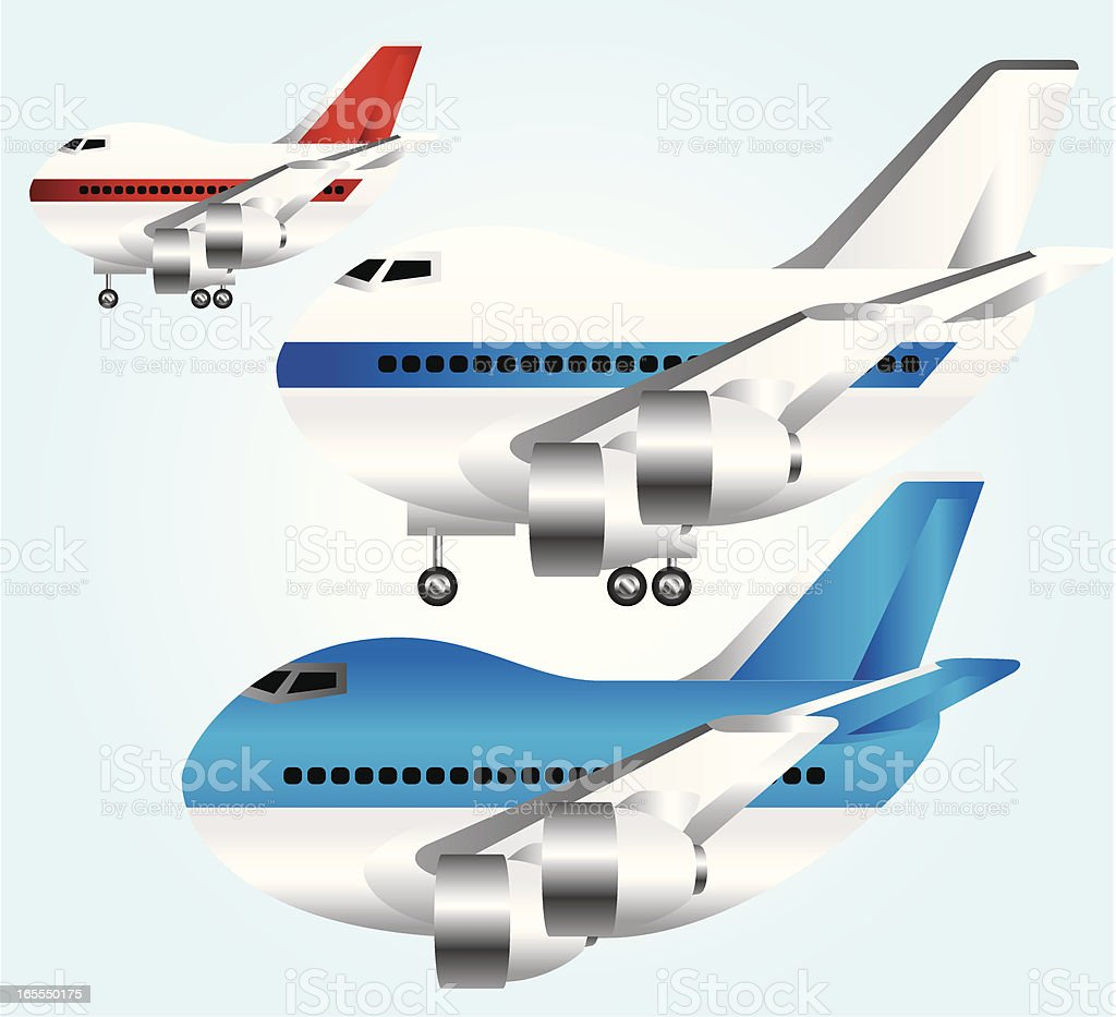 Aircraft Collection royalty-free stock vector art
