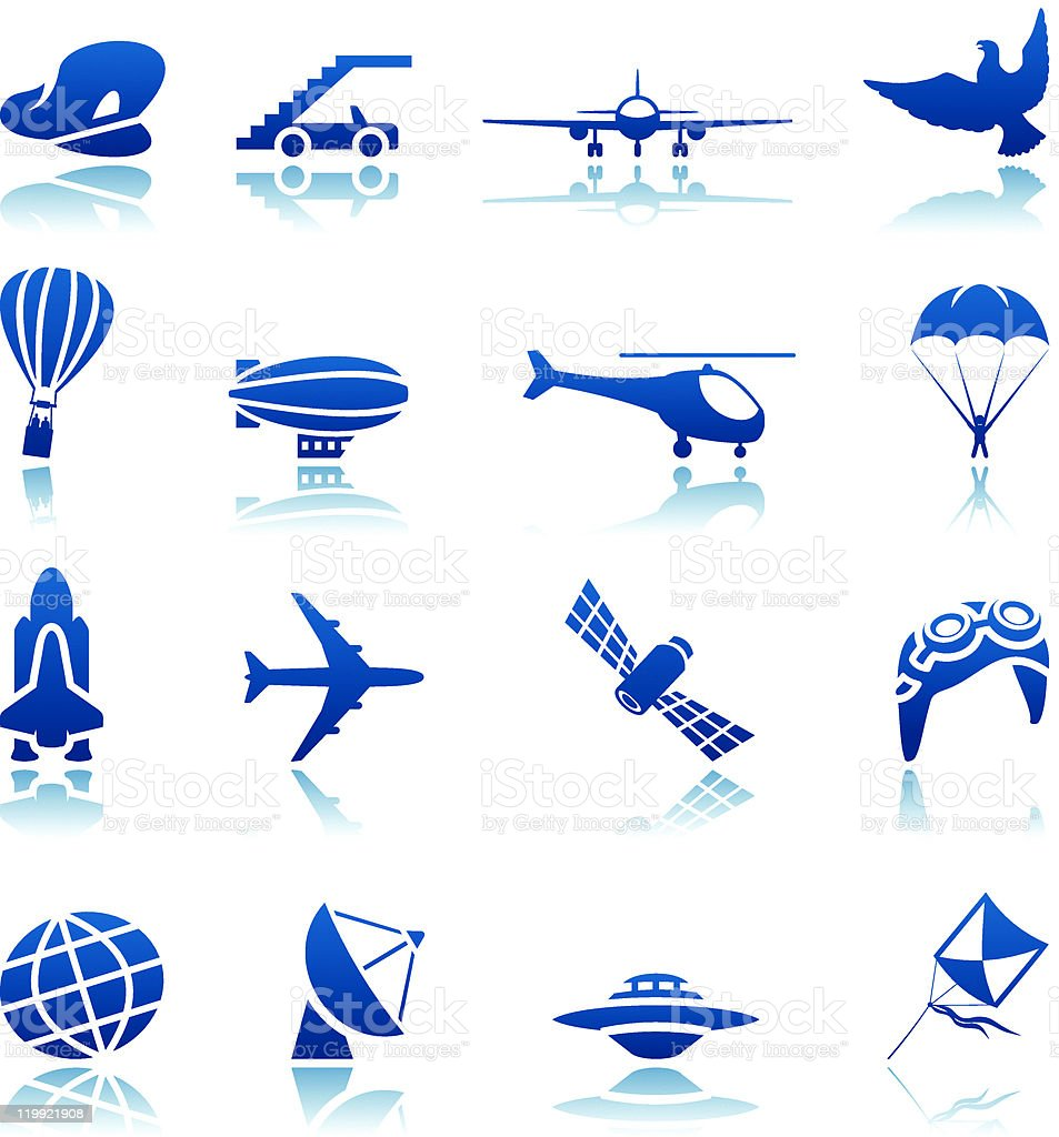 Aircraft icon set royalty-free stock vector art