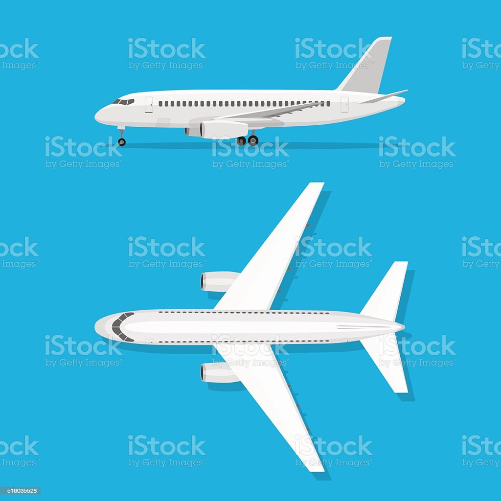 Aircraft is on the ground vector art illustration