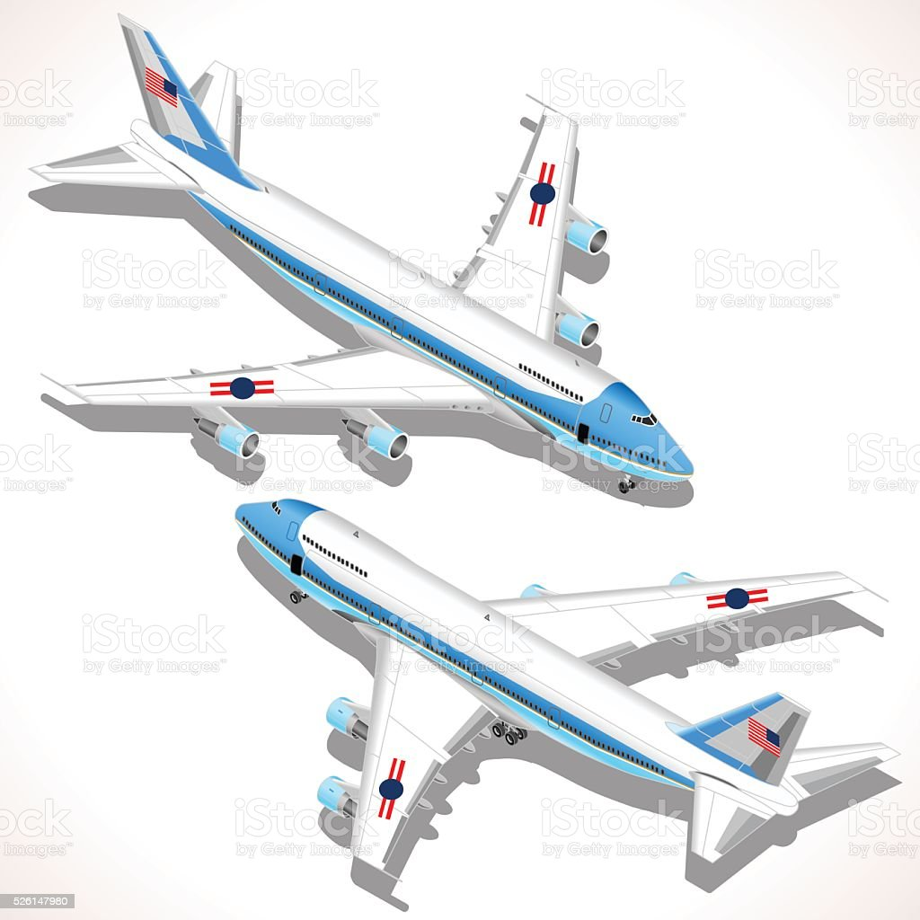 Aircraft Isometric Airplane vector art illustration