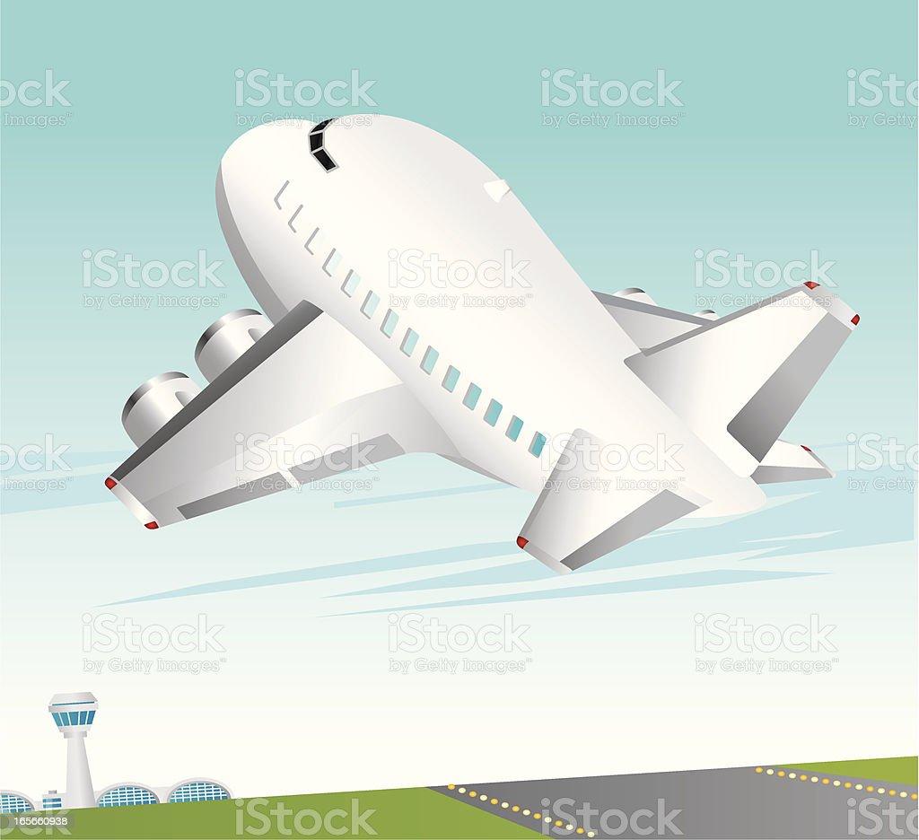 Aircraft Taking off royalty-free stock vector art