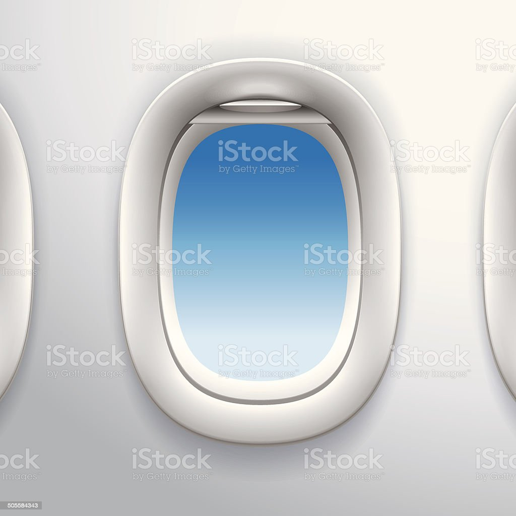 Aircraft Windows,airplane windows vector art illustration
