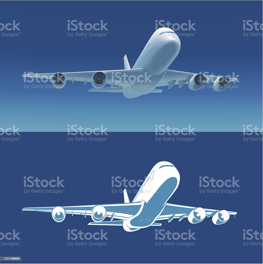 Airlane take off, vector illustration royalty-free stock vector art