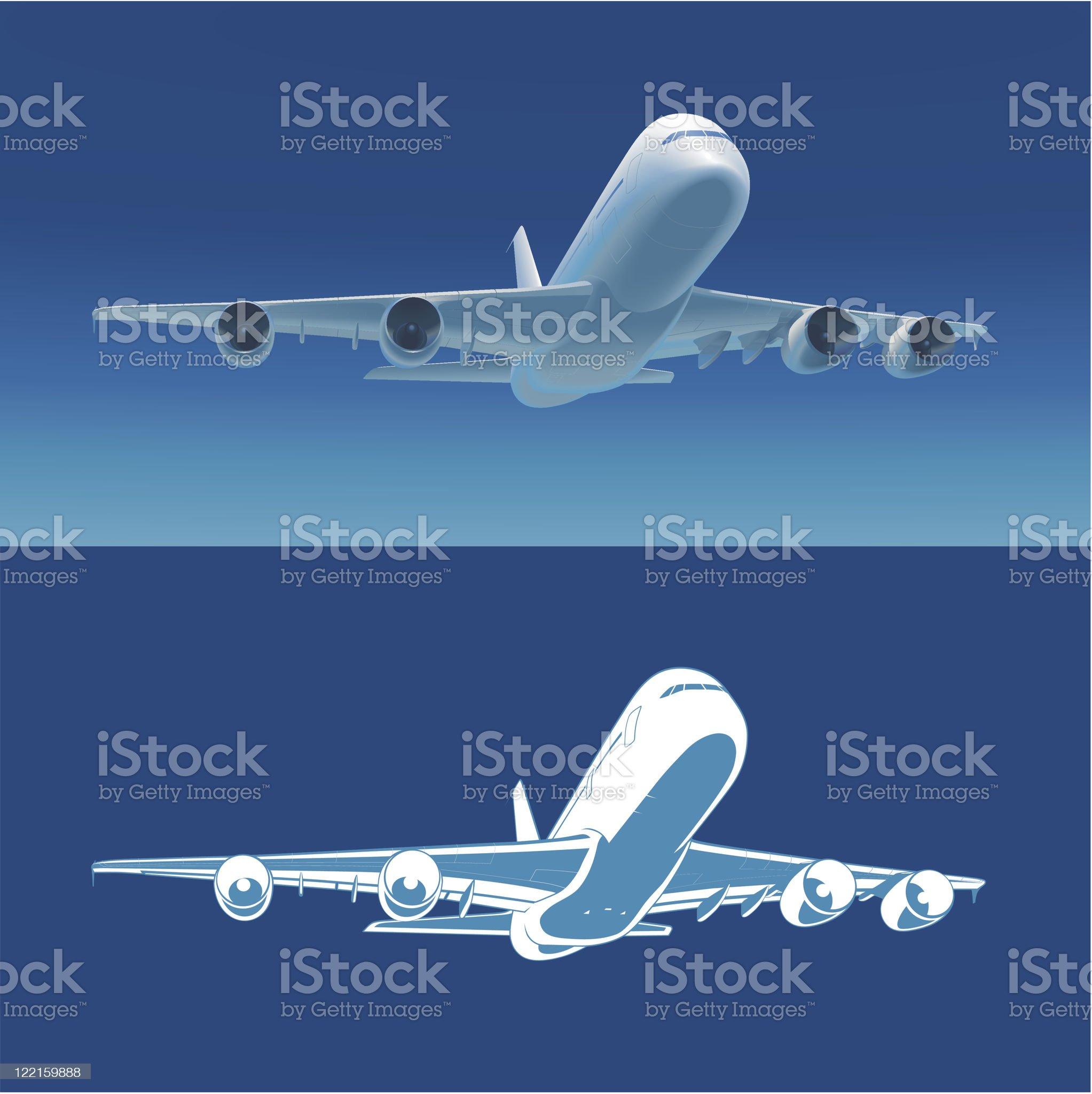 Airlane take off, vector illustration royalty-free stock vector art