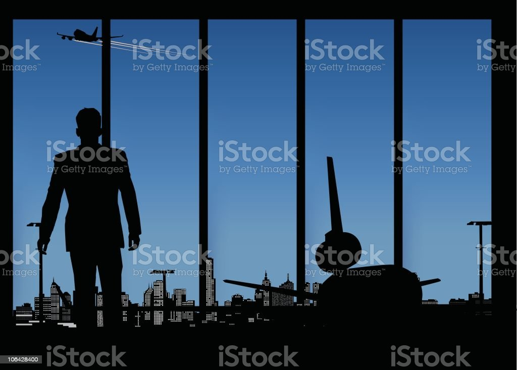Airline lounge royalty-free stock vector art