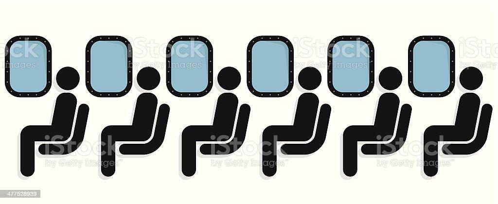 Airline passengers vector art illustration