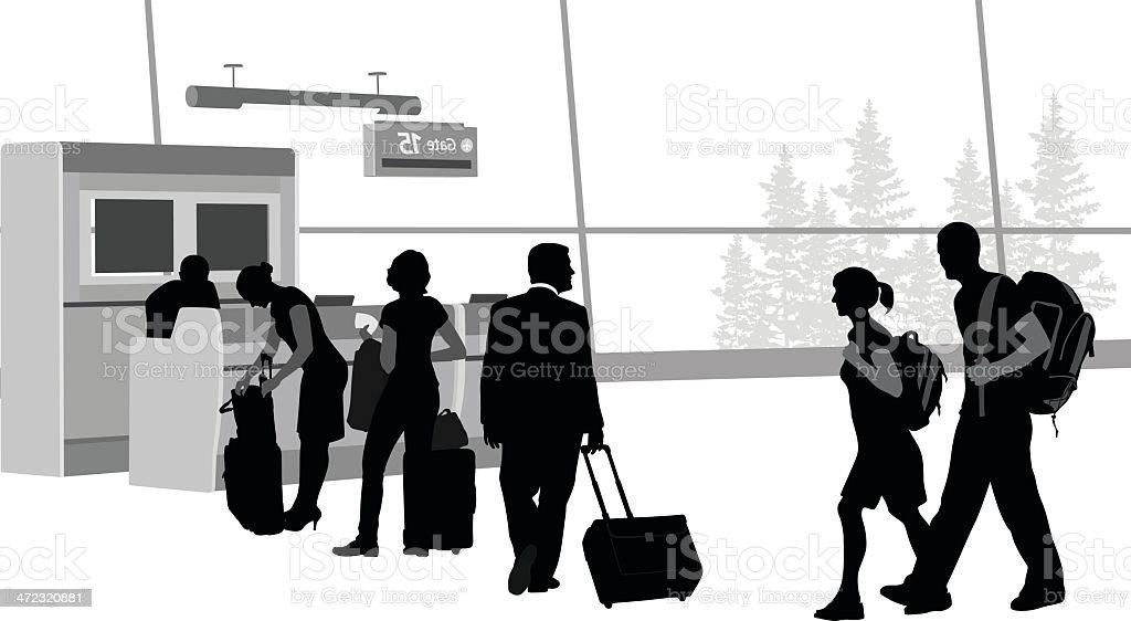 Airline vector art illustration