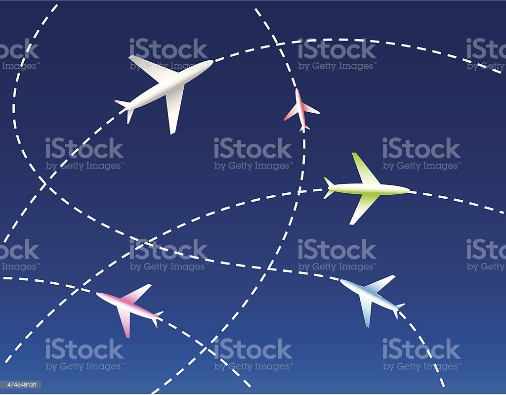 Airlines royalty-free stock vector art
