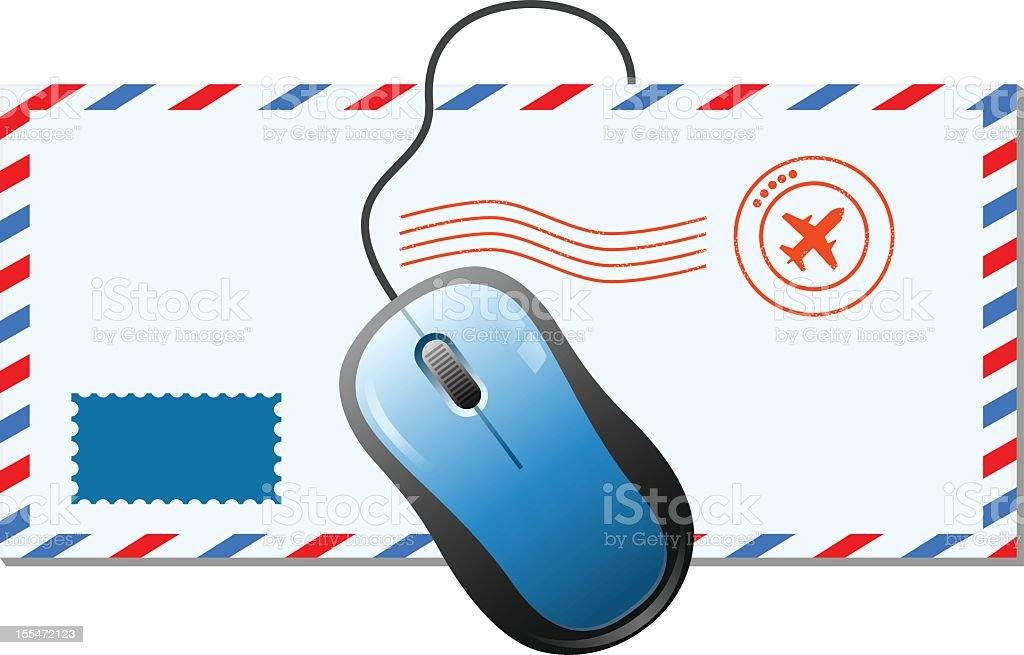 Airmail and Mouse royalty-free stock vector art