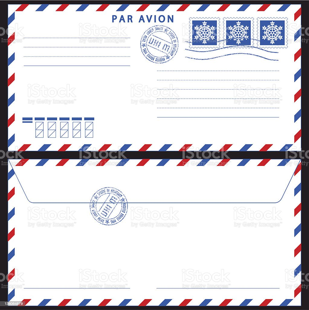 Airmail envelope vector art illustration